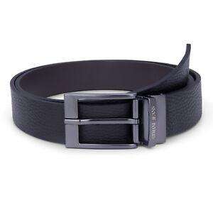 Armani-Jeans-Belt-Men-039-s-Reversible-Black-Belt-One-Size-Fits-All-Brand-New