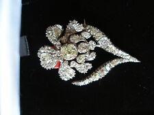 Gran Diamante Floral Broche de la propiedad de Barbara Cartland Hermoso