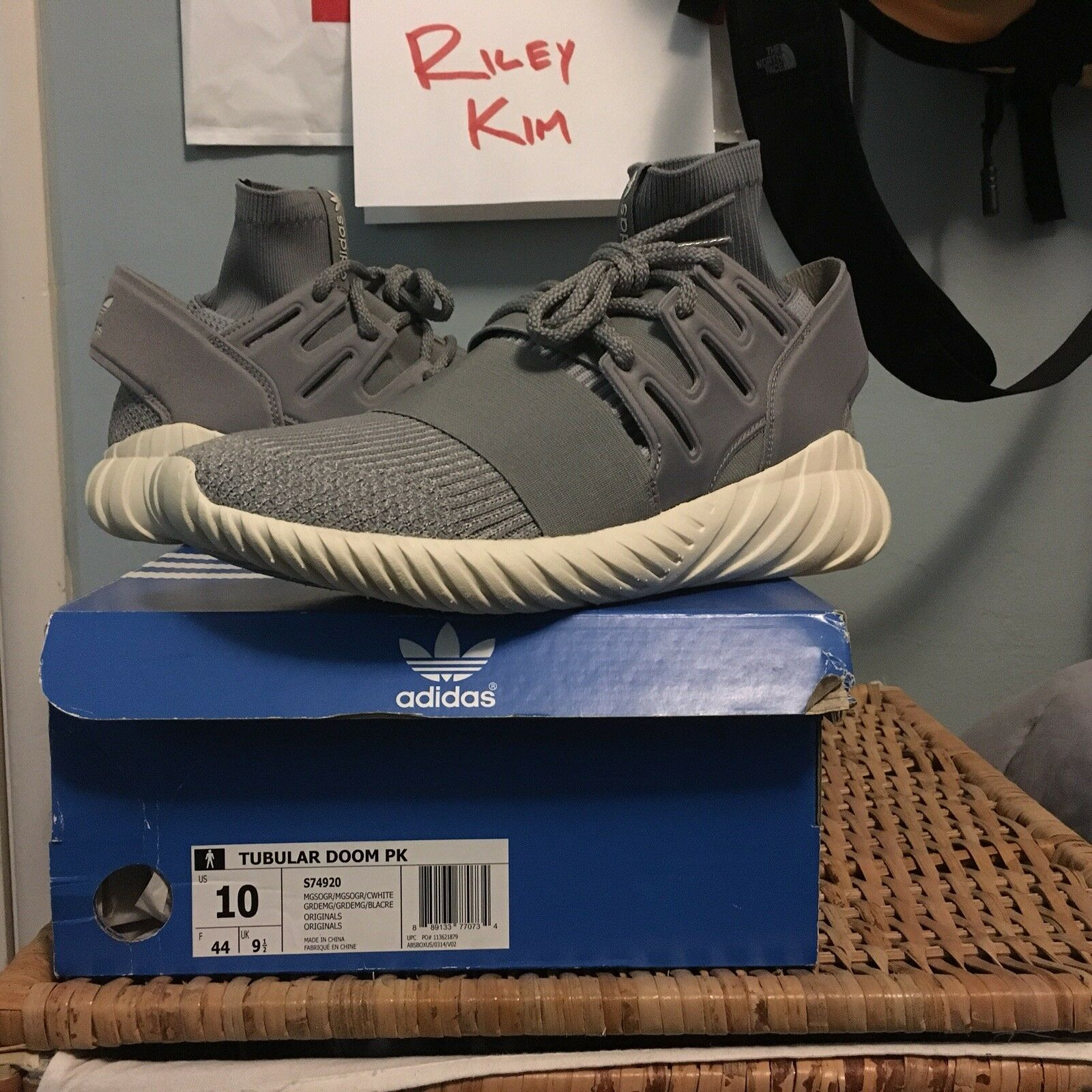 f45701368 Adidas Tubular Doom Primeknit Reflective Grey US10 UK9.5 Brand Brand Brand  New DS cbb3d5