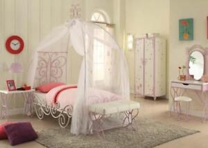 Details about Acme Furniture Priya ll Twin Girls Canopy 4 Piece Bedroom Set  30530T
