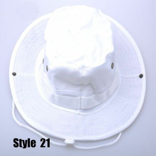 Adults Bucket Hat Summer Fishing Hunting Military Outdoor Wide Brim Camo Sun Cap