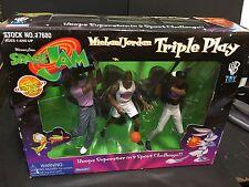 MICHAEL JORDAN 1996 Space Jam TRIPLE PLAY 3 Figures FACTORY Sealed WARNER Bros