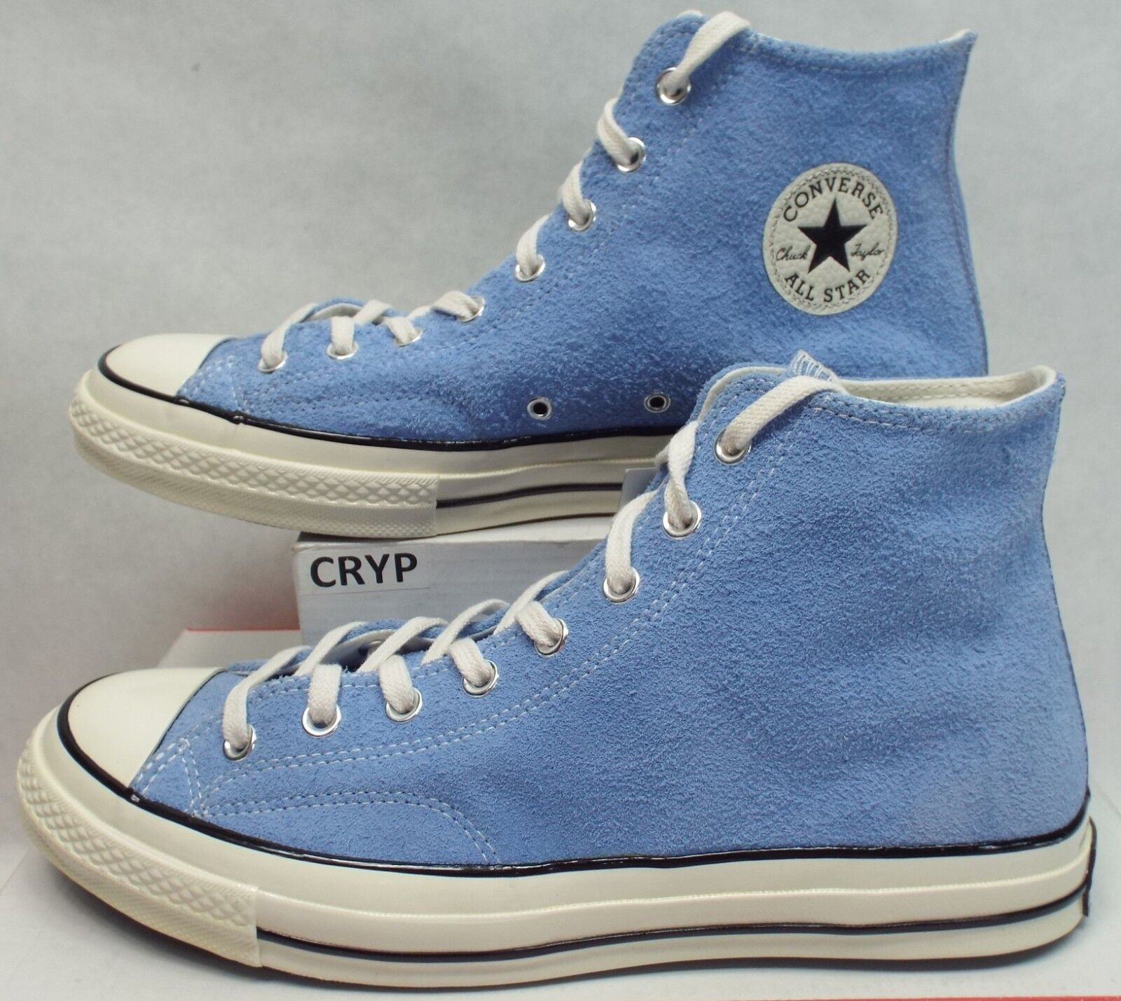 New Mens 10 Converse CTAS Hi Pioneer bluee Suede Leather shoes  95 157454C
