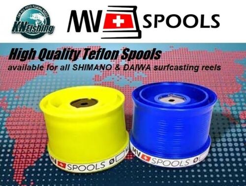 MV/_/'/'TEFLON SPOOLS/'/'/_FOR/_SHIMANO/_AND/_DAIWA/_REELS/_BOBINAS/_SURFCASTING/_RED