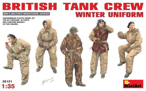MINIART BRITISH TANK CREW WINTER UNIFORM Scala 1:35 cod.35121