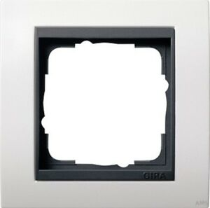 Gira-0211808-Marco-Cobertor-1fach-para-Anthracite-Evento-Blanco-Puro