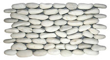 Sample White Natural Standing  Pebble Mosaic wall floor tiles