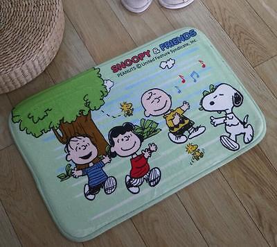 """New Cute Snoopy Peanuts Soft Bathroom Doormat Floor Mat Rug Pad 23.6/""""x15.7/"""""""