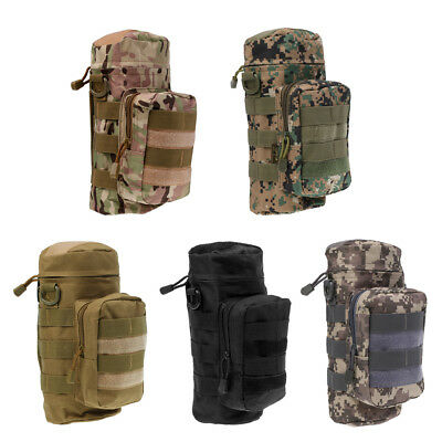 MagiDeal Outdoor Hiking Molle Zippered Water Bottle Kettle Bag Pouch