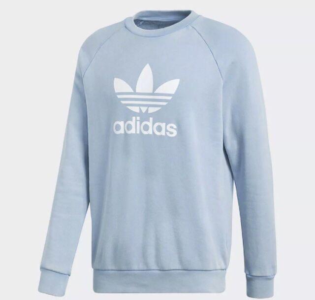 4f475e573acd33 NEW Men s Adidas Originals Trefoil Crewneck Sweatshirt Size 2XL Light Blue  Logo
