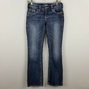 Silver-Aiko-Boot-Cut-Women-039-s-Medium-Wash-Blue-Jeans-Size-27-x-31