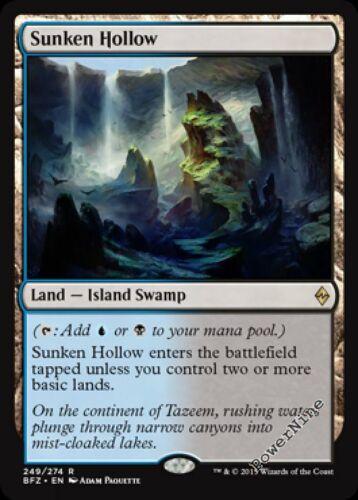 Land Battle for Zendikar Mtg Magic Rare 1x x1 1 PLAYED Sunken Hollow