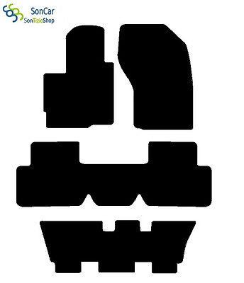 4block CITROEN C-CROSSER TAPPETI AUTO tappetini SETTE POSTI posteriori uniti