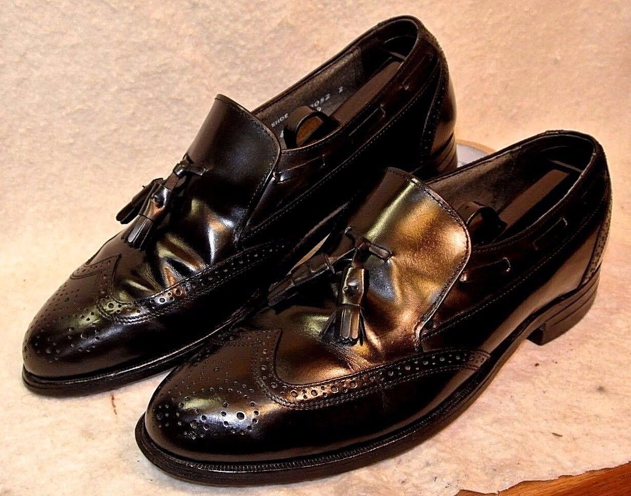 Vintage Vintage Vintage Stafford Brogue Wingtip Tassel Loafer Dress schuhe Men`s 9 1 2 D B 262aba