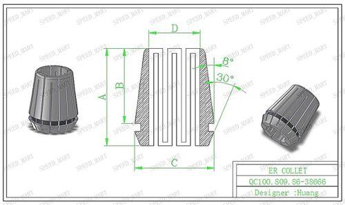 16mm ER32 Spring Collet Chuck Tool Bit Holder For CNC Milling Lathe Chuck NEW