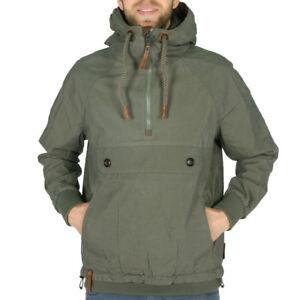 Details zu Naketano Cruiser Jacket Olive Herren Übergangsjacke Windbreaker Grün
