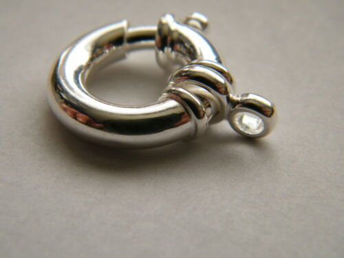 Sterling Silver Jumbo Bolt Ring Clasp 18mm With Double Ring~ Spring Ring Catch