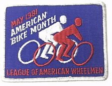 Vintage Bicycle Tour 1981 Bike Month Cycling Patch New Condition