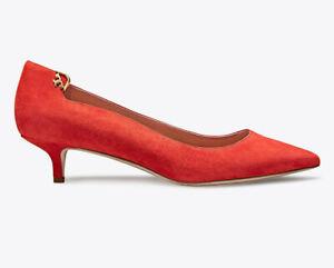260779124ae8 NIB TORY BURCH Elizabeth 40MM Pointy Toe Pump Size 9.5 Poppy Orange ...