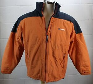 CHAPS-RALPH-LAUREN-Vintage-Orange-Navy-Blue-Puffer-Winter-Coat-Jacket-Men-039-s-M