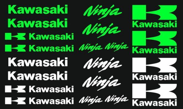 Kawa Ninja Motorsport Aufkleber Racing Set für Motorrad