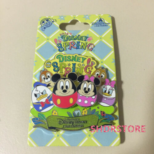 SHDR Disney Pin Easter 2018 mickey minnie chip dale donald Shanghai Disneyland