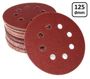 125mm-Klett-Schleifscheiben-A86-Schleifpapier-fuer-Exenterschleifer-Handschleifer