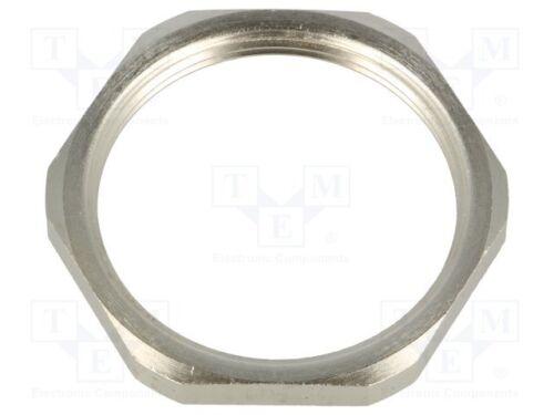 Nut M40 brass nickel 46mm Thread metric Pitch 1,5 1 pcs