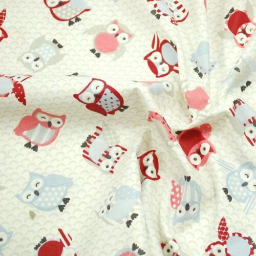 100/% Cotton Fabric Lifestyle Toot Owls Polka Dots 140cm Wide