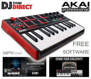 Details about AKAI MPK Mini 2 MK2 MIDI USB Electronic Keyboard Controller +  FREE SOFTWARE