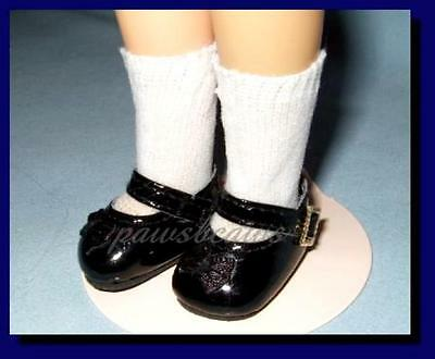 """DOLL Shoes 28mm BLACK Splendid Ankle Strap for 8/"""" Ginny 8/""""Shirley Temple"""
