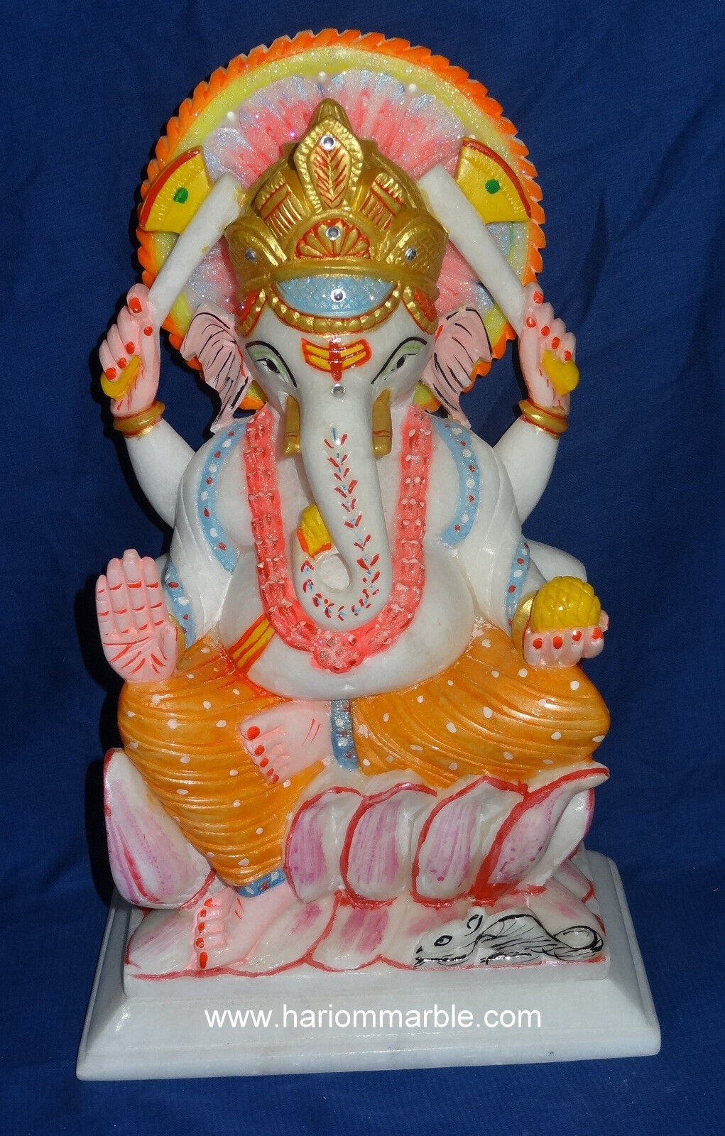 14  Marble Rare Ganesh Religious Sculpture Traditional Indian Indian Indian Room Decor Gifts d3c78f