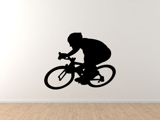 Sports Racing - Bicycling Cyclist Fahrrad Fahrradr version 2 - Vinyl Wand Decal