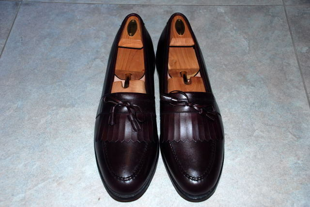 ALLEN EDMONDS CHELSEA MENS DRESS SHOES SIZE 15C CORDOVAN BURGUNDY NEW IN BOX