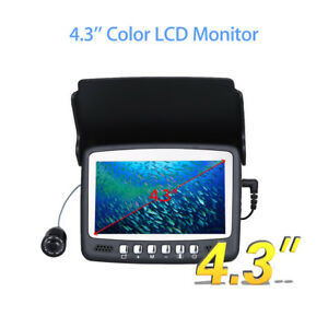 "Eyoyo 15M 4.3"" LCD Ice/Sea Fish Finder 1000TVL Underwater Camera With Sun-visor"