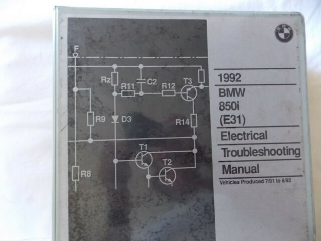 Bmw 1992 E31 850i Electrical Troubleshooting Manual