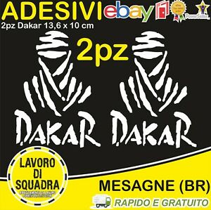 2-Adesivi-Rally-Dakar-Paris-Africa-Honda-KTM-Vinile-Decalco-Moto-Stickers-BIANCO