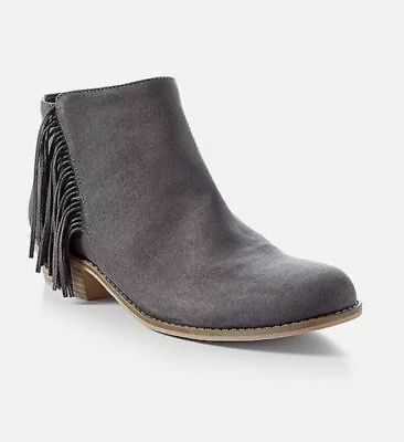 SAM EDELMAN  GIRLS SUEDE LEATHER FRINGE ANKLE BOOTS  YOUTH SIZE 1  NEW WITH BOX