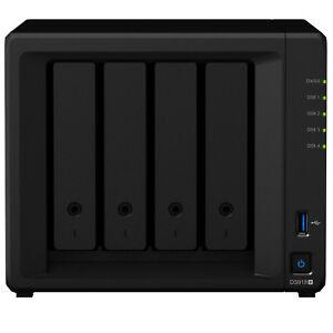 Synology-DS918-4G-4-Bay-NAS-Intel-Quad-Core-1-5GHz-0TB-4GB-Home-Network-Storage