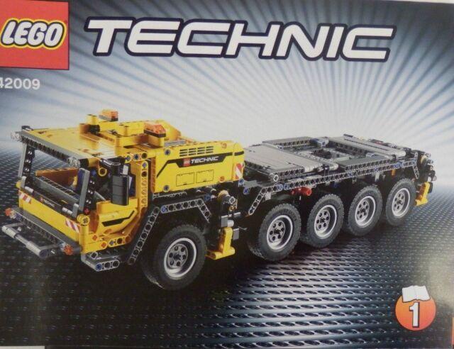 LEGO technic 42009 Portable Heavy Duty Crane New INSTRUCTIONS BOOKS only manual