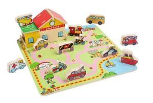 Puzzle-a-incastro-in-legno-automobili-3D-tridimensionale-034-Traffico-034-cm-30x30