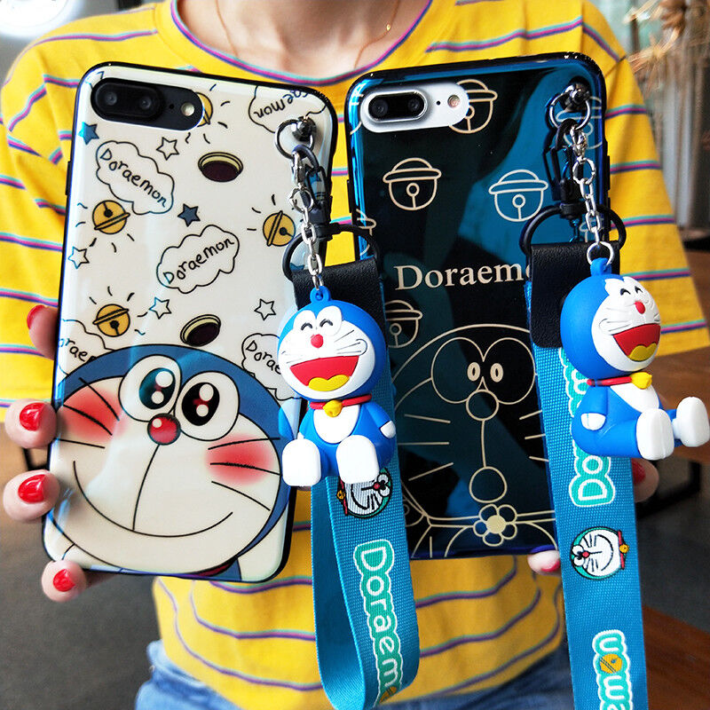Cartoon Doraemon Bling Doll Strap Soft Case for Samsung Galaxy S10+ S9 S8 Note 9 3 3 of 12 ...