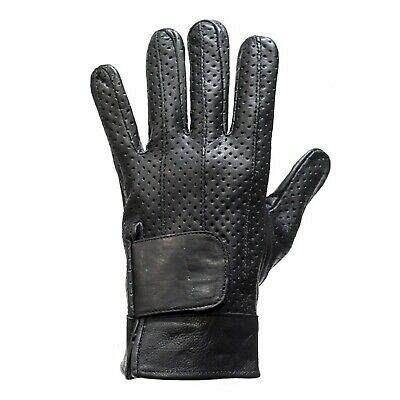 DC45 WOMENS MOTORCYCLE BIKER FULL FINGER LEATHER GLOVES w// AIR VENTS~GEL PALM