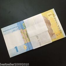 UKRAINE 1 HRYVNIA UNC BUNDLE 100 PCS