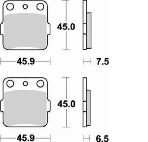 BRAKING-PASTIGLIE-FRENO-POSTERIORI-YAMAHA-YZ-125-1989-BRAKE-PADS-REAR