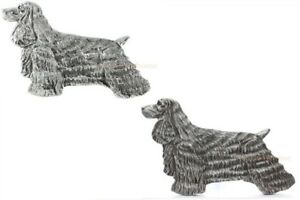COCKER-SPANIEL-DOG-GRILLIE-AUTO-TRUCK-CAR-GRILLE-ORNAMENT-ANTIQUED-NICKEL-PEWTER