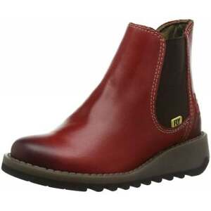 355b3755aa88a Details about Fly London Salv K Girls Leather Chelsea Ankle Boot Black Red  Purple New Size