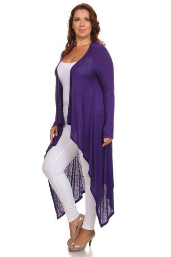 CANARI Women Plus Size Long Maxi Cardigan Sweater Draped Open Front
