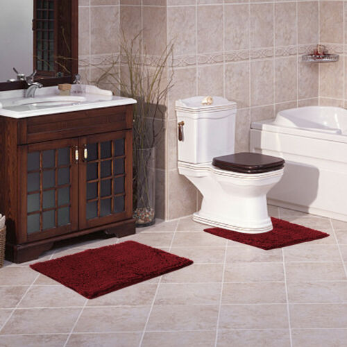 AOACreations Bathroom Rugs Luxury Ultra Soft Chenille Bath Mat 3 Piece Set