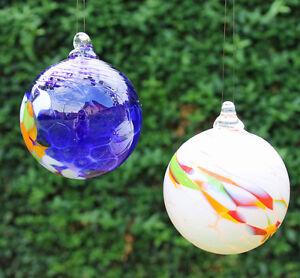 gartendeko zum hängen glas kugel h ngend 10 cm mundgeblasen 23000 neu